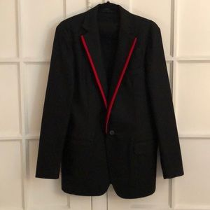 EUC Vintage Gucci red tipped wool blazer 46